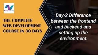 Setting up the environment | web development tutorial | free online course