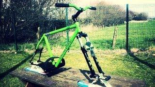 Fabrication d'un Snowbike  Homemade ski Bike Build