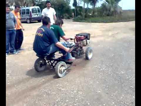 carreras ilegales de motocultores en totana