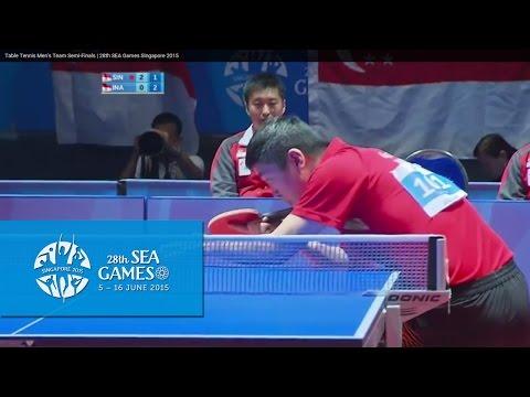 Table Tennis Men s Team Semi Finals Singapore vs Indonesia Match 1 28th SEA Games Singapore 2015