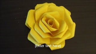 Paper flower folding (Easy and clear tutorial)