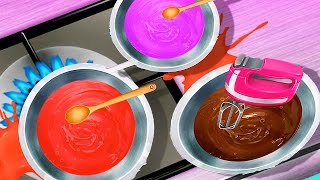 Sweet Candy Factory - Cooking Fun Making Colorful Candy Lollipops Chocolate Drops Kids Games