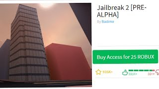 PLAYING ROBLOX JAILBREAK 2 PRE-ALPHA!