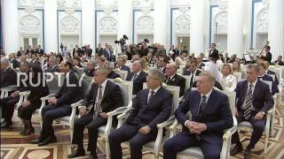 Russia: Putin presents awards for achievements in literature, art, science and tech