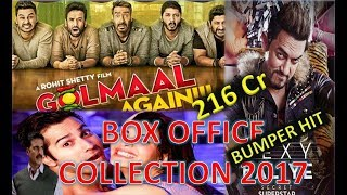 Box Office Collection of Golmal Again, Secret Superstar, Judwaa 2 Movie 2017