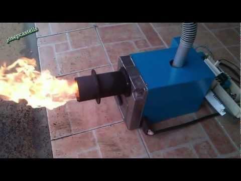 CONVERSION DE UN QUEMADOR DE GASOIL A BIOMASA VIDEO 2