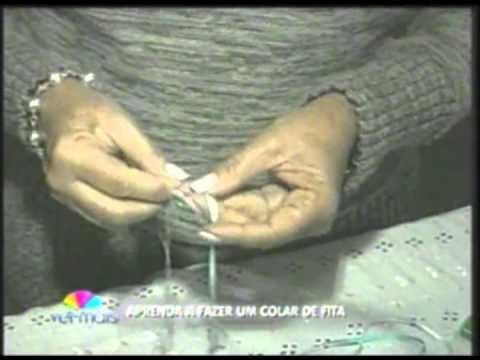Artesanato Colar de fita
