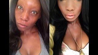 حاول ان لا تنصدم..صور مجموعة نساء قبل و بعد المكياج