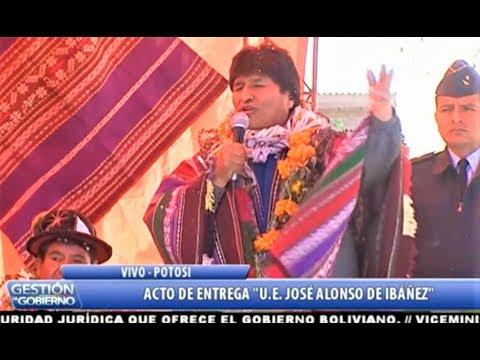 Xxx Mp4 Así Evo Morales En Potosí Acto De Entrega De U E JOSÉ ALONSO DE IBÁÑEZ Municipio Caiza D Bolivia 3gp Sex