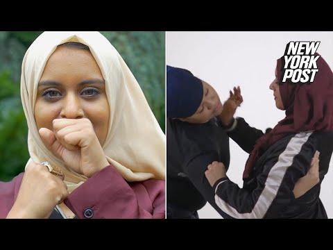 Xxx Mp4 Muslim Woman Teaches The Hijab Grab Technique For Self Defense New York Post 3gp Sex