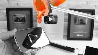 Youtube Playbutton aus geschmolzenem Aluminium selber anfertigen - DiY