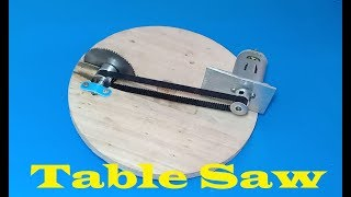 How to make a mini table saw  , DIY mini table saw with 6V DC motor