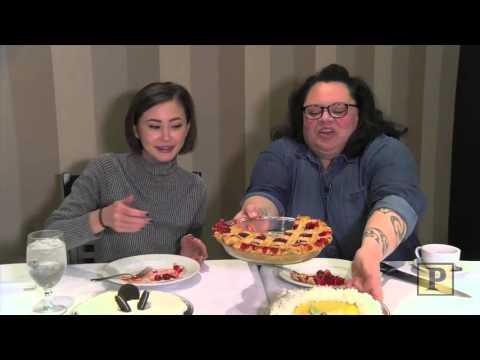"""Waitress"" Castmates Kimiko Glenn and Keala Settle Celebrate National Pi Day—With Pie!"