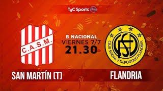 Primera B Nacional: San Martín (T) vs. Flandria | #BNacionalenTyC