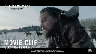 The Revenant ['Glass Escapes Arikara' Movie Clip in HD (1080p)]