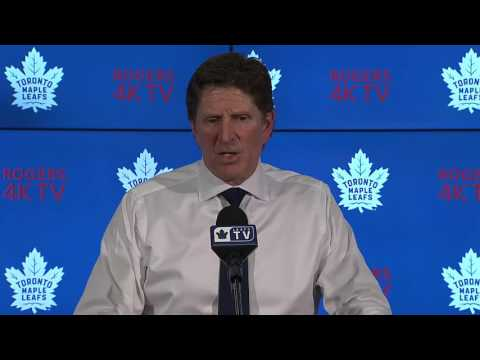 Maple Leafs Locker Clean Out Mike Babcock April 25 2017