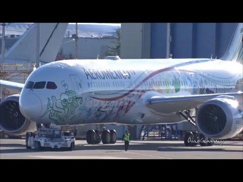 Aeroméxico 1st Boeing 787 9 Dreamliner Quetzalcóatl Wing Wave Delivery Flight KPAE Paine Field