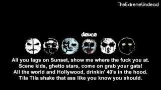 Hollywood Undead - Scene For Dummies [Lyrics Video]