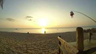 Sunset timelapse @ Lanta Paradise Beach Resort, Koh Lanta, Thailand. 720p