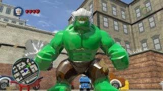 LEGO Marvel Super Heroes (PS4) - Stan Lee - Excelsior Hulk Free Roam Gameplay