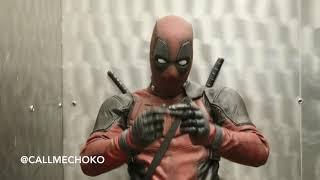 Deadpool and Tio Choko (Elevator Party)