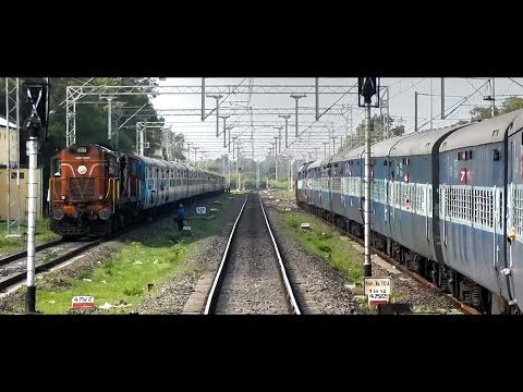 DAUND to MANMAD : Train Journey on a Single Line Diesel Section (INDIAN RAILWAYS)