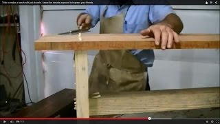 Trick to make a bench with just dowels. Leave the dowels exposed to impress your friends.