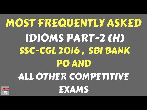 watch Most Frequently Asked IDIOMS and PHRASES for SSC and  All Other Competitive Exams | in Hindi