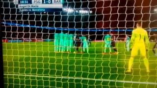 Gol de DI MARIA-Champions league PSG-BARCELONA 2017 (14/02/17)