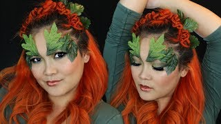 Poison Ivy Hair & Makeup Costume Look for Halloween