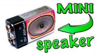 How to make a mini portable speaker