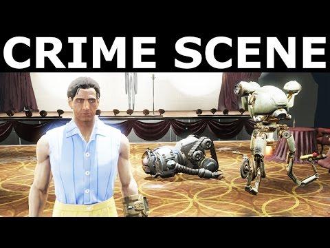 Fallout 4 Far Harbor - Search The Crime Scene For Clues -