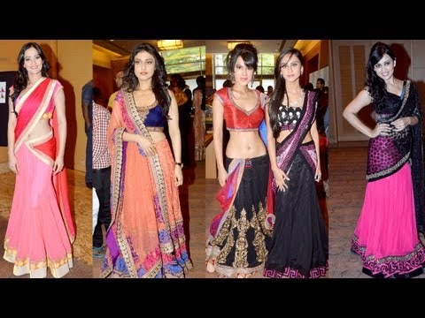 Television Stars walk the ramp for IIJW 2013