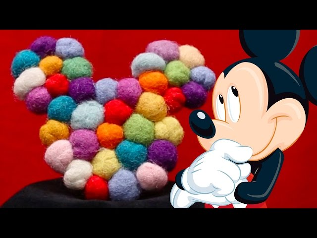 Mickey Mouse Wool Coasters | DIY by Disney Family