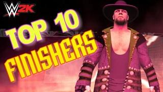 Top 10 Finishers   WWE 2K
