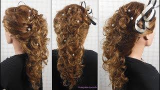 Coiffure bouclée Mariage   Wedding hairstyle with curls   Peinado con bucles para novia