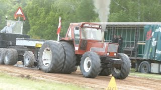Fiat 1580 DT Pulling The Sledge at Pulling Event in Lyngså | Tractor Pulling Denmark