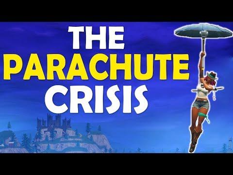 FORTNITE PARACHUTE CRISIS   GAME GOING DOWNHILL?   BUILD BATTLES - (Fortnite Battle Royale)