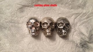 Casting a silver skull