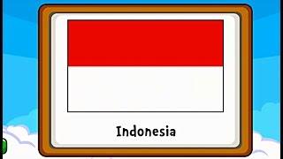 Belajar Bendera Dunia - Belajar Mengenal Bendera Di Benua Asia Dan Australia (Game Edukasi Anak)