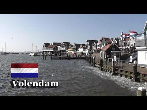 HOLLAND Volendam village De Dijk & harbour HD