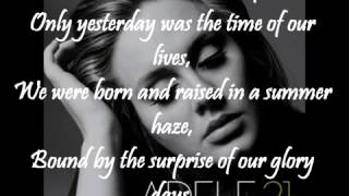 Adele   Someone like you WITH ON SCREEN LYRICS   YouTube