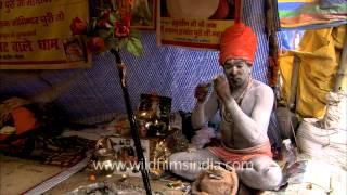 Sadhu singing devotional Song