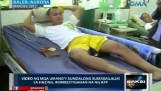 Saksi: Video ng mga umano'y sundalong sumasailalim sa hazing, iniimbestigahan na ng AFP