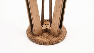 How to make a herringbone bar stool of plywood
