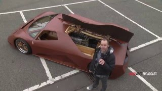 The Splinter: Man Makes A 600HP Supercar Out Of Wood