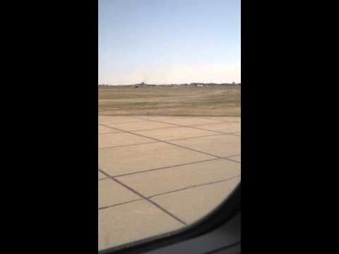 Lining up for takeoff at YEG for YQQ