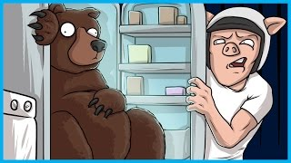 I HATE When There's A Bear in the Fridge! - Google Feud Funny Moments w/ BigJigglyPanda
