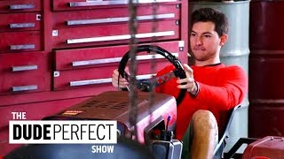 Dude Perfect Preps for The Ultimate Lawn Mower Racing Battle