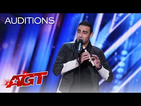 Medhat Mamdouh Beatboxes While Playing The Recorder America s Got Talent 2021